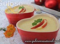 Mousse de Pêssego com 2 Ingredientes