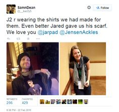 Cool shirt! And sweet Jared :) (PhxCon2015)