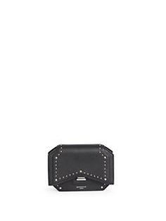 Givenchy - Bow-Cut Studded Leather Chain Wallet