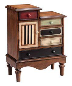 Look what I found on #zulily! Five-Drawer Curio Cabinet #zulilyfinds