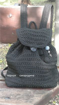Картинка Crochet Backpack, Crochet Tote, Knit Or Crochet, Mochila Crochet, Boys Backpacks, Crochet Projects, Straw Bag, Arts And Crafts, Reusable Tote Bags