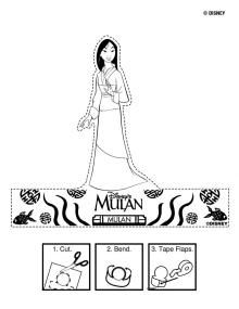 Mulan Printable Puppet  | Disney Princess Mulan Free Printables, Downloads and Activities | SKGaleana