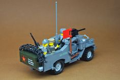 Lego Military, Military Vehicles, Lego Soldiers, Red Army, Legos, Wwii, Tractors, Crates, Tech