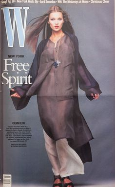 <em>W</em> Magazine's Supermodel Cover Girls - Kate Moss on the cover of W Magazine November 1992-Wmag
