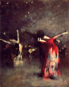 """Study for 'The Spanish Dance'"" by John Singer Sargent, ca. 1879-80"