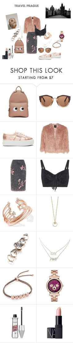 """The Prague Look"" by jayitadas ❤ liked on Polyvore featuring Anya Hindmarch, Marni, Superga, Theory, Prada, Dolce&Gabbana, Kendra Scott, 3 AM Imports, Charlotte Russe and Monica Vinader"