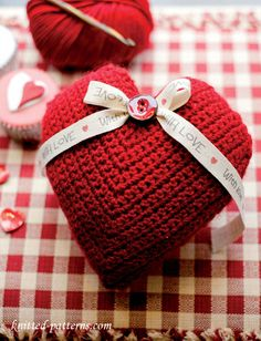 Crochet lavender heart sachet free pattern