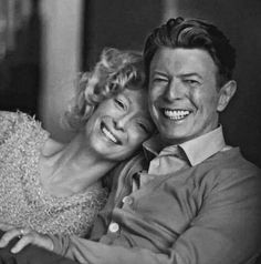 "Tilda Swinton & David Bowie, ""The Stars (Are Out Tonight)"", Tilda Swinton, David Bowie, British Actresses, Actors & Actresses, Bowie Starman, Bowie Blackstar, The Thin White Duke, Major Tom, Ziggy Stardust"