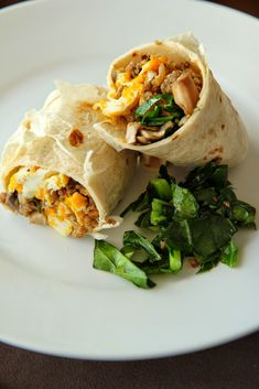 Use up leftover collard greens from Thanksgiving in these yummy breakfast burritos!