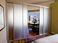 Glass Room Dividers w/Frosted Glass | The Sliding Door Co.