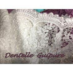 tissu en dentelle guipure