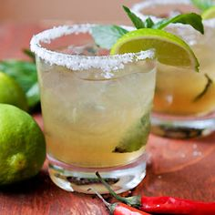 Thai-Inspired Margarita with Thai Basil and Spicy Thai Bitters