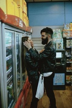 So cute. Someday I will look like this couple..with a bearded hottie