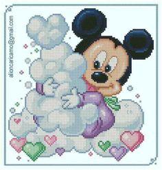 Mickey Mouse x-stitch Cross Stitch Love, Cross Stitch Charts, Cross Stitch Patterns, Graph Crochet, Bead Crochet Patterns, Cross Stitching, Cross Stitch Embroidery, Disney Stich, Crochet Disney