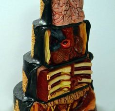 30 Scary AF Horror and Halloween Cakes - joyenergizer Tasty, but gory! Scary Halloween Cakes, Scary Cakes, Bolo Halloween, Halloween Food For Party, Halloween Treats, Fancy Cakes, Mini Cakes, Cupcake Cakes, Beautiful Cakes