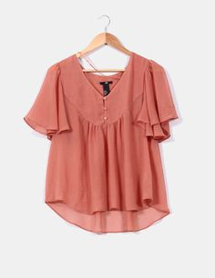 blusa-color-salmon-con-mangas-avolantadas Bell Sleeves, Bell Sleeve Top, Salmon, Tops, Women, Fashion, Sleeves, Blouses, Colors