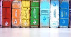 Oh my gosh, WANT!  [BB-Blog]: Painted brick bookends.