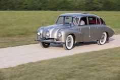 Tatra T87, 1948 - ©Courtesy of RM Auctions - the whole story: www.radical-classics.com, #tatra, #radicalmag Vintage Cars, Antique Cars, Techno, Auction, Antiques, Vehicles, Passion, Classic Cars, Antiquities