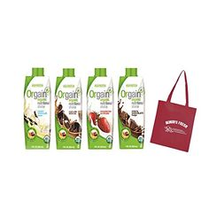 Orgain Organic Nutritional Shakes, 4 Flavors, 11 Ounce, 12 Count