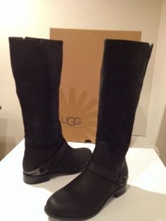 New Black Classic Ugg Channing II Riding Equestrian Tall Boots Size 6 Womens