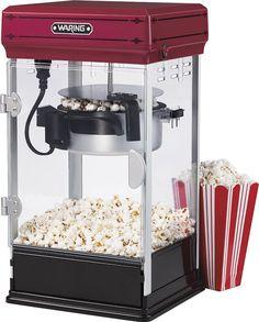 Waring Pro - 10-Cup Popcorn Maker - Red/Black, WPM28