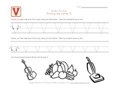 Tracing letter worksheets in landscape layout. We have one worksheet for each letter of the alphabet and they contain pictures to go with each letter. Each worksheet has uppercase and lowercase letters to trace. Letter Tracing Worksheets, Handwriting Worksheets, Tracing Letters, Uppercase And Lowercase Letters, Preschool Lessons, Preschool Learning, Preschool Activities, Small Letters, Lower Case Letters