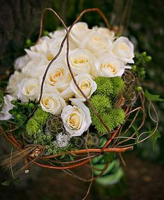 Willow-not completely in love with the bouquet but like the idea of curly willow wrapped.
