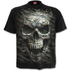 b0e57129fe44 Camo Skull Print TComfy Cotton