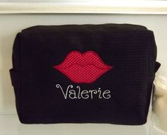 Customize your own unique cosmetic bags with your name and your own designs.