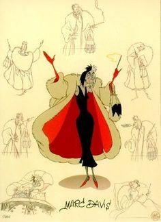101 Dalmatians  - Marc Davis - Character Design - Original Art Animation Sketches, Cartoon Sketches, Disney Sketches, Disney Drawings, Disney Concept Art, Disney Art, Marc Davis, Storyboard Drawing, Walt Disney Animation Studios