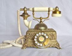 Vintage Radio Shack Golden Color Rotary Telephone