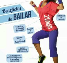 # Beneficios de bailar Zumba Fitness, Instructor De Zumba, Gym Frases, Army Workout, Tai Chi, Herbalife, Health And Wellness, Motivation, Cardio Dance