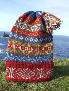 """Knit by Annie Thomson Your chance to own a bit of the """"Legend""""   As part of this year's Tall Ships race, the knitters on Fair Isle br..."""