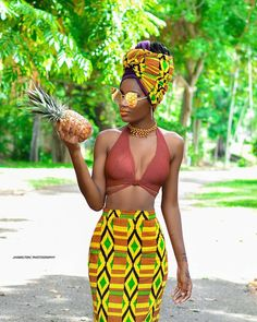 Be a pineapple, stand tall. Wear a crown | Headwrap | Bold African Prints | Black Beauty | Ankara