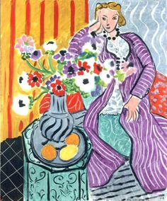 Purple Dress and Anemones - Matisse, Henri (French, 1869 - Fine Art Reproductions, Oil Painting Reproductions - Art for Sale at Galerie Dada Henri Matisse, Matisse Kunst, Matisse Art, Acrylic Painting Lessons, Oil Painting Abstract, Watercolor Paintings, Abstract Art, Knife Painting, Watercolor Artists