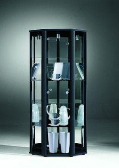 8004c7df6b5f CORNER Glass Display Cabinet Unit - Garden Rattan Furniture