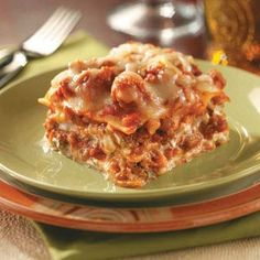 "Traditional Lasagna - ""My family first tasted this rich, classic lasagna at a friend's home on Christmas Eve. We were so impressed that it became our own holiday tradition as well. I also prepare it other times of the year. It's requested often by my sister's Italian in-laws. I consider that the highest compliment!"" -Lorri Foockle, Granville, Illinois"
