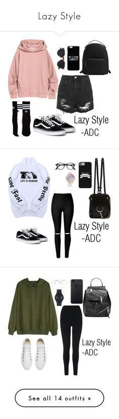 """Lazy Style"" by anatiller ❤ liked on Polyvore featuring Topshop, adidas, MANGO, Christian Dior, Wallace, Chloé, L.K.Bennett, Converse, Marc Jacobs and Movado"