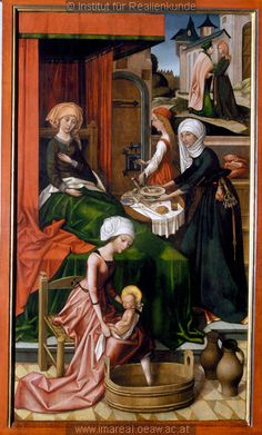 The Birth of Mary by Hans Holbein the Elder, 1493