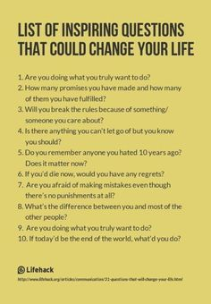 List of Inspiring Questions That Could Change Your Life. I use some of these inspiring questions with my clients in Life Shift Coaching! The Words, Life Questions, This Or That Questions, Coaching Questions, Amazing Questions, Questions To Ask People, Psychology Questions, Questions To Ponder, Random Questions