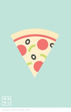 MNML THING #85 Pizza http://mnmlthing.com