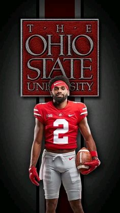 Ohio State Football Players, Kansas City Chiefs Shirts, Buckeyes Football, Ohio State Buckeyes, Ohio State Wallpaper, Ohio State University, Osu Schedule, Packers, Scarlet