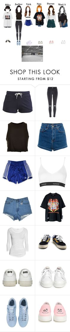 """[Lucky Baby] Dance practice"" by starz-official ❤ liked on Polyvore featuring TWINTIP, VFiles, River Island, Topshop, Pull&Bear, adidas, James Perse, Vans, Off-White and Ash"