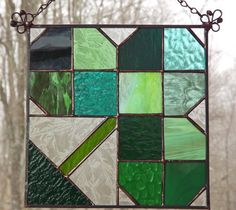Shamrock Suncatcher Stained Glass Irish Celtic by HillLillyDesigns, $36.00