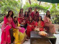 Karwa Chauth 2020: Shilpa Shetty Neelam Kothari Varun Dhawan's girlfriend Natasha Dalal celebrate at Anil Kapoor's residence