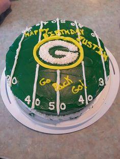 Green Bay Packers birthday cake