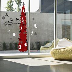 縦BIGツリー #ウォールステッカー#クリスマス#サンタクロース#サンタ#ツリー #SantaClaus#Christmas#tree#wallsticker
