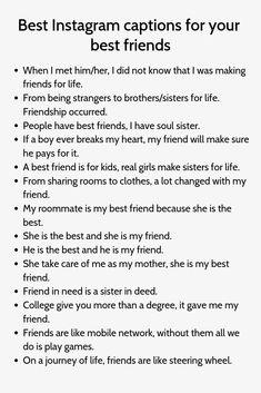 Funny Friend Captions, Sweet Captions, Instagram Picture Quotes, Instagram Captions For Friends, Instagram Captions For Selfies, Selfie Captions, Cool Captions, Best Friend Quotes Instagram, Captions Sassy