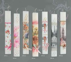 Greek orthodox easter candle Flat candles Paris / London / floral / vintage /Shabby chic theme easter candles Model options High - 11.8 (30 cm ) The flame of the Paschal candle symbolizes the eternal presence of Christ, light of the world in the midst of his people. ♥ OPTIONS after