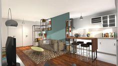 changer optimiser l espace cuisine pour agrandir le salon home design d 39 espace. Black Bedroom Furniture Sets. Home Design Ideas